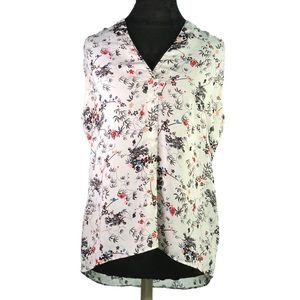 Laundry Shelli Segal Sleeveless Asian Floral Tunic